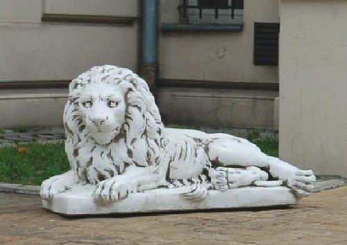 Löwe Liegend Blick Links (S632) Tierfiguren Steinfiguren Steinguss 59 cm Defi Link