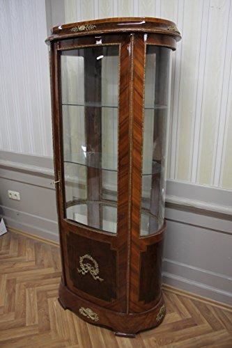 LouisXV Barock Vitrine Rokoko Antik Stil Schrank Louis XV MkVi0151Bg Antik Stil Massivholz....
