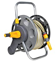 Hozelock 60m 2 in 1 Hose Reel with 25m Hose