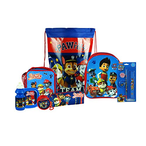 e0016e01673d Paw Patrol 8PC Back to School Bundle - inc Backpack, Drawstring Sports Bag,  Insulated Lunch Bag, Sandwich Box, Water Bottle, Coin Pouch, Pencil Case &  ...