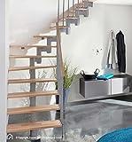 Intercon Raumspartreppe Torino mit massiven 30 mm Buche Leimholz Stufen keilgezinkt