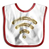 Safe Kids Lunch Bibs Gold Wiffi Logo Baby Saliva Towel Snap