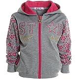 Mädchen Kinder Kapuzen Pullover Hoodie Sweat Shirt Jacke Langarm Winter 20715, Farbe:Grau;Größe:104