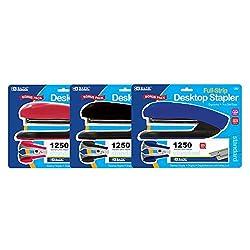 BAZIC Desktop Full Strip Stapler Set, Case of 12 (696-12)