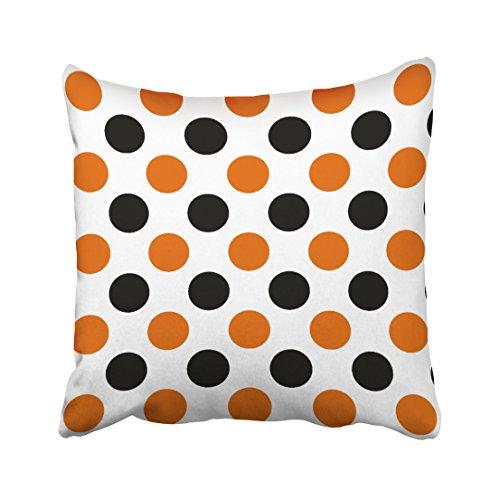 accrocn orange und schwarz Halloween Polka Dots Überwurf -