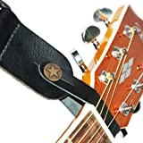 Acoustic Guitar Leather Strap Hook in Black