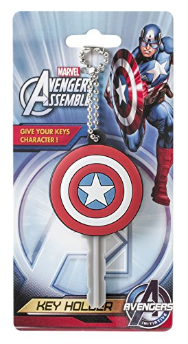 Marvel Captain America Logo PVC Key Holder Key Ring