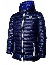 Oficial CHELSEA FC acolchada con capucha Puffa chaqueta–para mujer tamaño 8(azul)