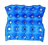 GxNI Ammortizzatori di ammortizzatore quadrato della sedia a rotelle della carrozzina dell'automobile gonfiabile medica materassi con la pompa - anti-anca anti-inclinazione del decubito impedicono il basamento, Blue41cm * 43cm