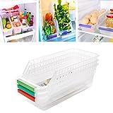 #1: Skykitchen 4 Pcs Set Of Fridge Freezer Food Storage Drawer Box Organizer Container