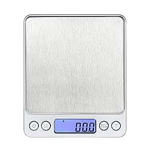 Bilancia da Cucina Digitale Scala Professionale Scala Elettronica con Mini Display LCD ad alta Precisione fino a 105oz / 3kg 0.01oz