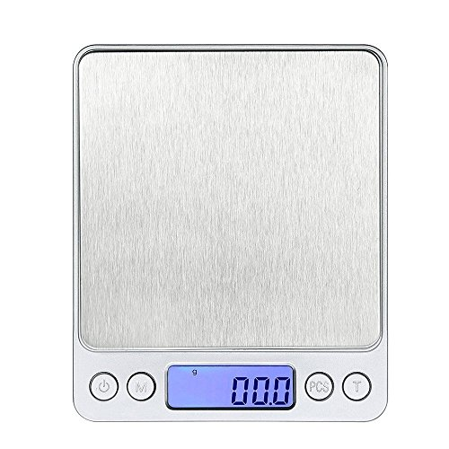 Bilancia da Cucina Digitale Scala Professionale Scala Elettronica con Mini Display LCD ad alta Precisione fino a 105oz / 3kg 0.01oz