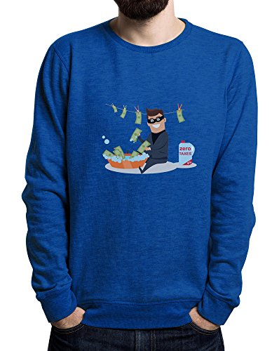 Young Money-shirt (Lilij Dirty Money | Money Wash | Cool Sweatshirt | Young and Free | City style | Urban | Men's Sweater Königsblau XX-Large)