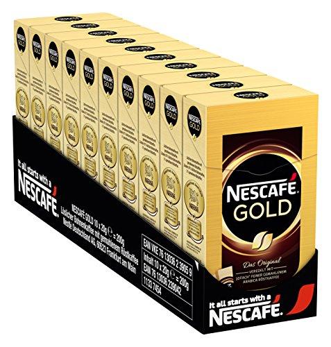 NESCAFÉ Gold Original, löslicher Kaffee, Faltschachtel mit 10 x 2g Sticks, 10er Pack