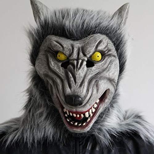 Kostüm Werwölfe Platz - Wolf Maske Werwolf Maske Cosplay Tierkopf Halloween Kostüm Zombi Maske Horror Werwolf gruselig (Color : B)
