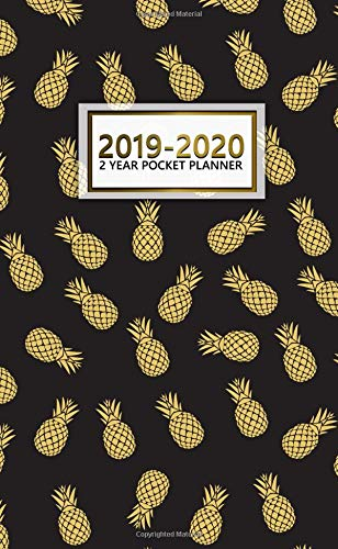 2019-2020 2 Year Pocket Planner: Pretty Pineapple Planner with Phone Book, Password Log and Notebook. Nifty 24 Month Pineapple Organizer. por Nifty Notes