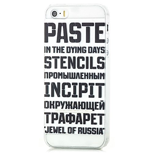 Saxonia Apple iPhone SE 5S 5 Hülle Hard Case Back Cover Schutzhülle Motiv Youth Planet Peace Jewel of Russia