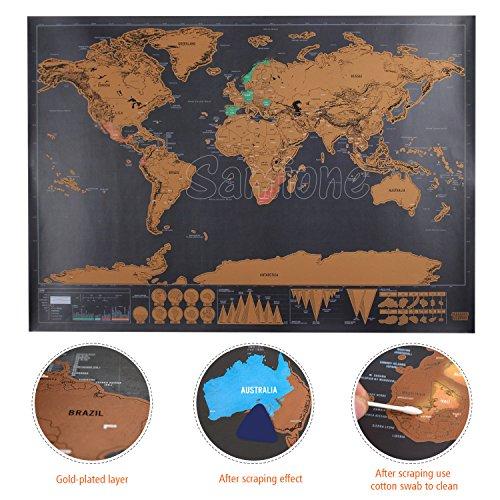 comprare on line Scratch il Mondo,Samione Mappa da Grattare Mappa Multicolore da grattare,Gratta via i posti in cui viaggi 42.3X30 cm prezzo