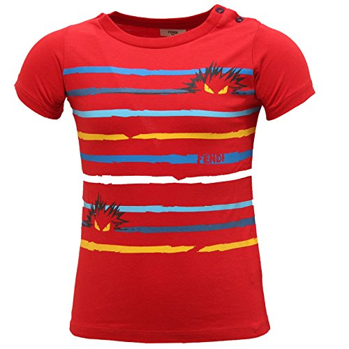 Fendi 0365S Maglia Bimbo MOSTRI Rosso Multicolor t-Shirt Kid  24 Months  26cfe36135d