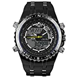 Infantry Herren Analog-Digital Uhr Chronograph Outdoor Schwarz Rubber Armband