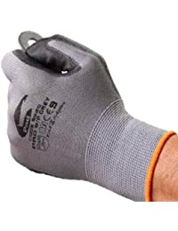 Grey Work Builder's Work Gloves - By Easy Off Gloves. Ideal for Work, DIY, Electricians, Plumbers, Labourers & Fishing.