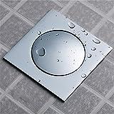 Pengei Duschrinne Siphon Geruchsfalle Entwässerungssystem Alles Kupfer, Das Schritt Für Schritt Silber 10 * 10Cm Springt
