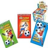 12 x Fußball Spiral-notizbücher ~ Ideal Partei-beute-beutel-füllstoffe spielsachen