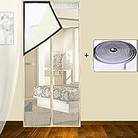 Magnético de velcro fly pantalla puerta, Verano Mute Cortina de malla, Fácil instalación Malla protectora Guarda insectos hacia fuera -B 80x210cm(31x83inch)