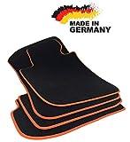 Fußmatten 3er E90 E91 Premium Velours SCHWARZ Hochwertige Orange Umrandung Original Qualität Automatten