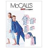 McCall's Patterns /filles/garçons chemise de nuit, haut, pantalon et short pour homme, m6227, Taille CS (12–14–16)