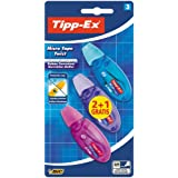 BIC Tipp-Ex Micro tape Twist - Blíster de 3 cintas correctoras de 5 mm x 8 m