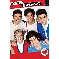 One Direction Carte danniversaire Inscription It