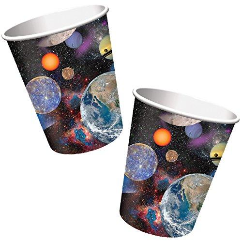 8-teiliges Becher-Set * WELTRAUM / SPACE BLAST * für Kindergeburtstag und Mottoparty // Kinder Geburtstag Party Pappbecher Partybecher Cups All Apollo Alien Apollo Cup
