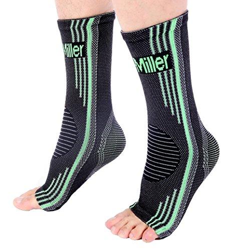 Doc Miller Aparatos ortopédicos de soporte para el tobillo. Calcetines para pie plantar hinchado fascitis tendinitis de Aquiles Grande Verde