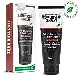 Bartcreme & Gesichtscreme (75 ml) · 2-in-1 Bartpflege der BROOKLYN SOAP COMPANY · Alternative zum Bartöl oder zum Bart Balsam · Weicherer 3-Tage-Bart & weniger Bartjucken