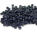450g Rocailles 4mm Glasperlen Iris Metallic Blau AB 5000stk Indianerperlen A137