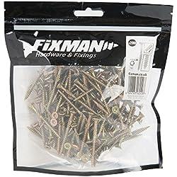 Fixman 619135 Vis à bois aggloméré, Or, 4 x 50 mm