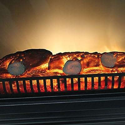Elektrokamin mit patentiertem LED Feuereffekt 1800W inklusive Kaminumrandung Classic Fire Elektrokamin simuliertes Kaminfeuer mit Kaminkonsole MDF weiß von Classic Fire - Heizstrahler Onlineshop