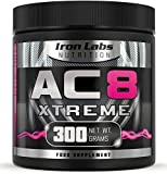 AC8 Xtreme | Watermelon | Pre Workout Supplement | Energy & Muscle | 20-40 Servings | 300 grams