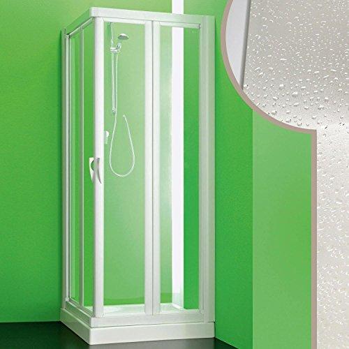 Cabine douche 70x70 CM en acrylique mod. Giove avec ouverture pliante