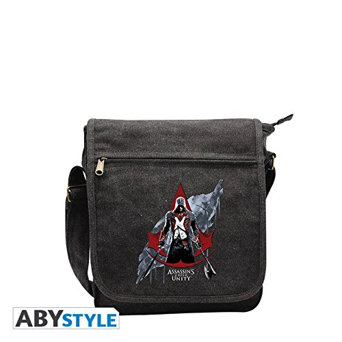 Crest Messenger (Assassin's Creed - Red Crest Classic Logo With Arno Small Messenger Bag (Abybag076))