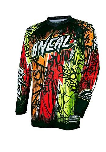 O\'Neal Element Vandal Jersey Schwarz Neon MX MTB DH Trikot Motocross Offroad, 0028-61, Größe XL