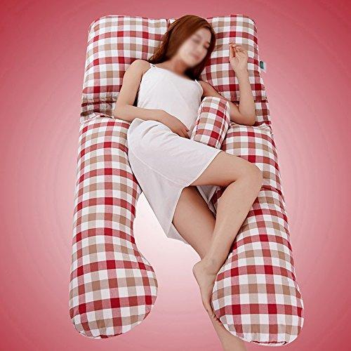 SPQRSXC Oreiller d'allaitement pour femmes enceintes, oreiller d'allaitement, coussin de couchage pour soulèvement d'estomac, oreiller pour dormir à la taille, oreiller en forme de G, coussin de souti