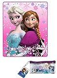 Disney Frozen Kuscheldecke Die Eiskönigin Anna und Elsa - Fleecedecke Decke 120 x 140 cm Trendstern Fleecedecke + Extra Zugabe