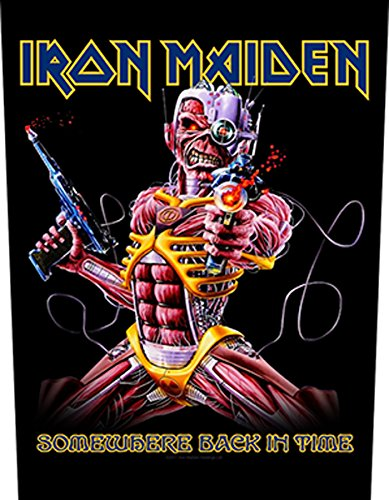 IRON MAIDEN SOMEWHERE BACK IN TIME Backpatch