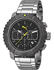 Puma Herren-Armbanduhr XL Gallant Chronograph Quarz Edelstahl PU103561001