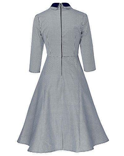Brinny -  Vestito  - linea ad a - Donna blu navy