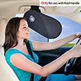 TFY Auto Innere Sonnenblende Sonnenschutz für den Haltegriff am Himmel plus Reduziertes Blenden des Mitfahrer und Fahrers