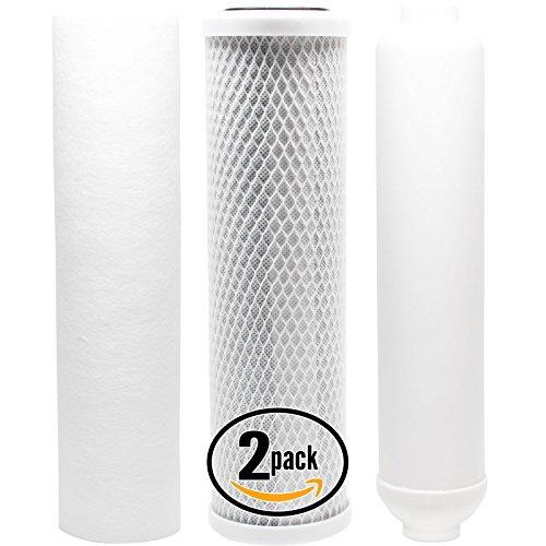 2Kit di filtri di ricambio per Paragon P1000Ro Sistema-Include Filtro Carbon Block, Filtro Sedimenti e Inline Cartuccia Filtro-Denali Pure marca
