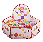 Kids Ocean Ball Pit Pool Foldable Ball Pits BOBO Ball Tent Game Tent Pit Pool Outdoor Kids Playhouse with 100pcs ball -1.2M